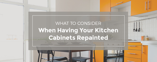 What to consider when having your kitchen cabinets repainted