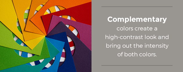 Complementary colors create contrast