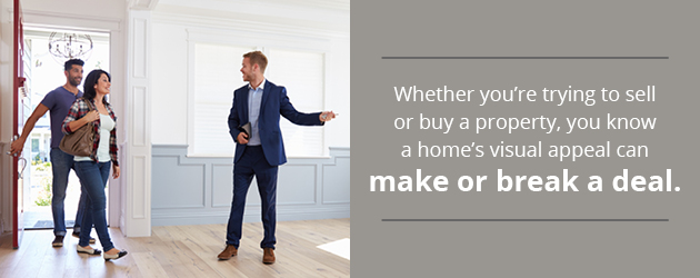 A home's visual appeal can make or break a deal
