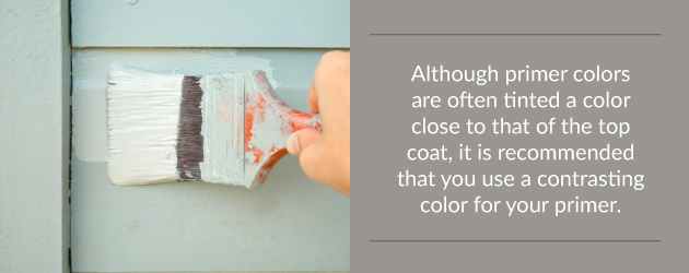 It is recommended you use a contrasting color for your primer