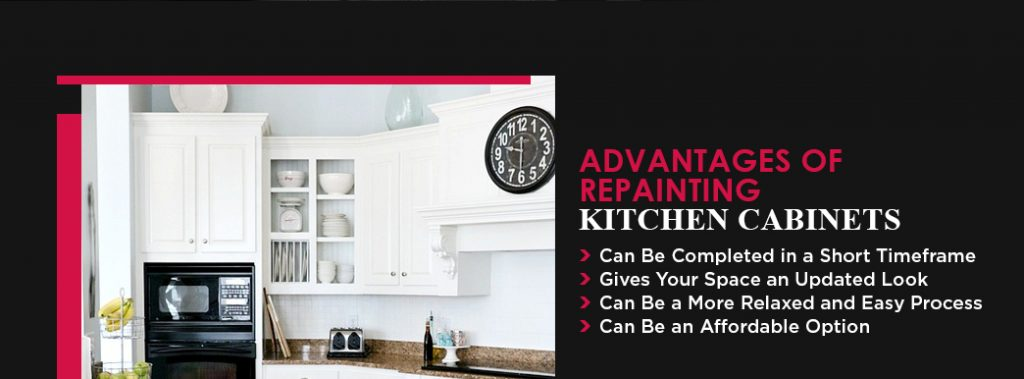 Advantages of repainting kitchen cabinets