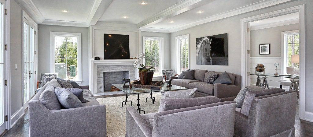 Living room interior painted by Shoreline