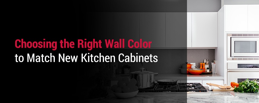 Choosing the right wall color to match kitchen cabinets
