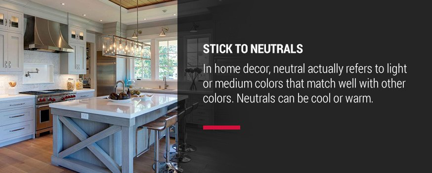 Stick to neutrals when choosing kitchen color