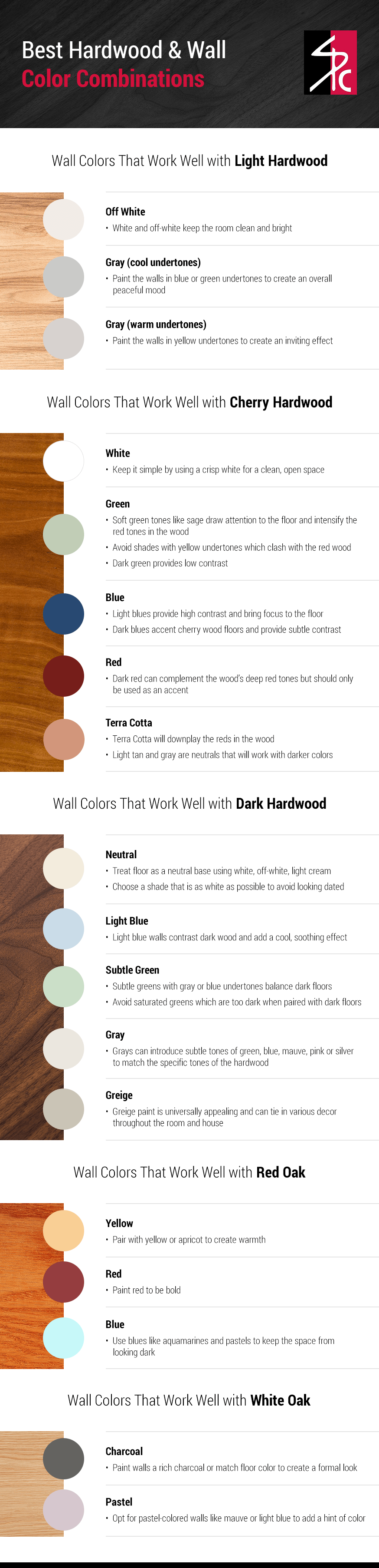 Best Hardwood Wall Color Combinations