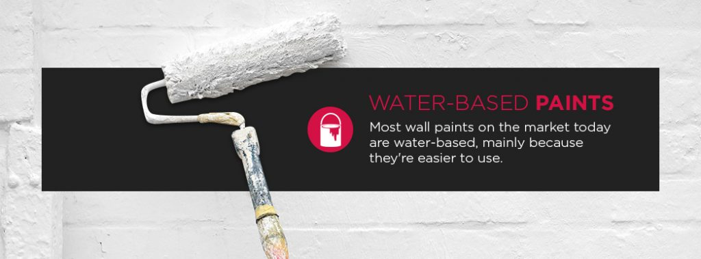 water-based paints are easy to use