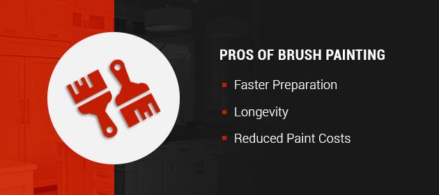 pros of brush painting