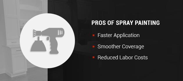 pros of spray painting