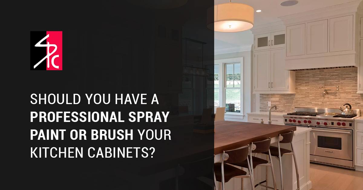 Should A Professional Spray Paint Or Brush Your Kitchen Cabinets
