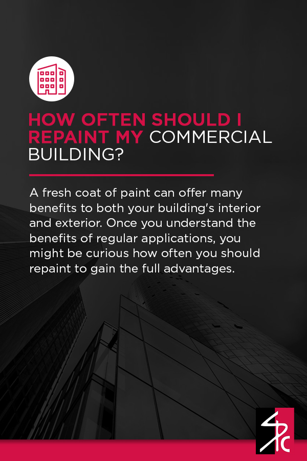 How often should commercial buildings be repainted