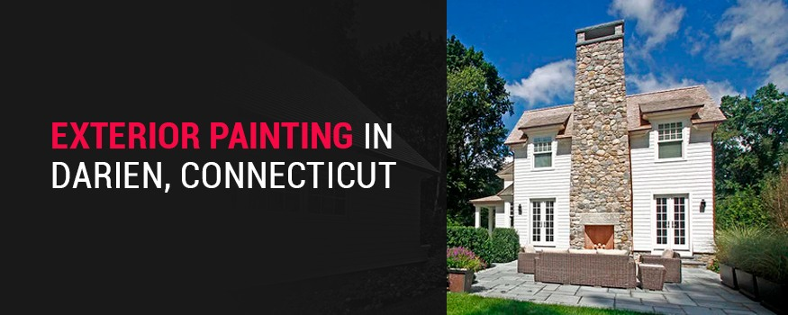Exterior home painting in Darien, Connecticut