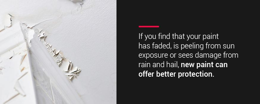 New exterior house paint can offer better protection from rain, hail, and sun exposure