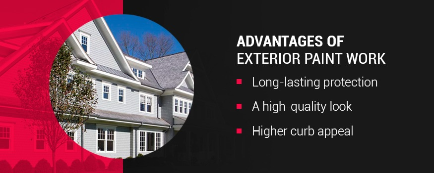 Advantages of exterior paint work
