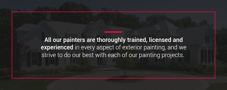 All Shoreline professional painters are thoroughly trained, licensed and experienced