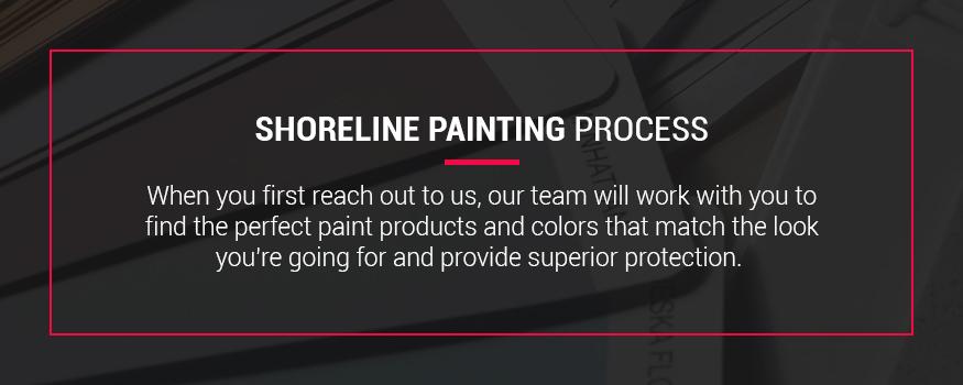 Shoreline exterior painting process