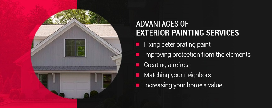 Advantages of exterior painting services