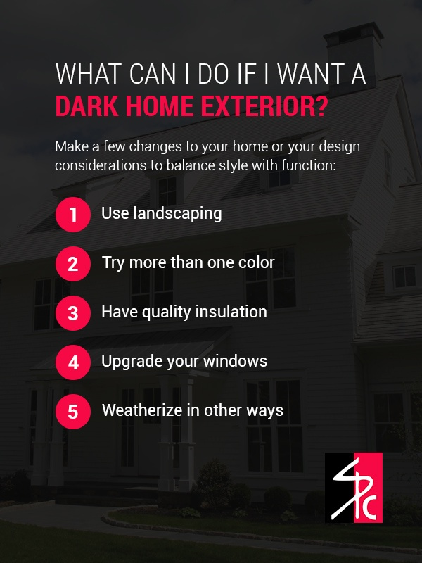 What Can I Do If I Want a Dark Home Exterior?