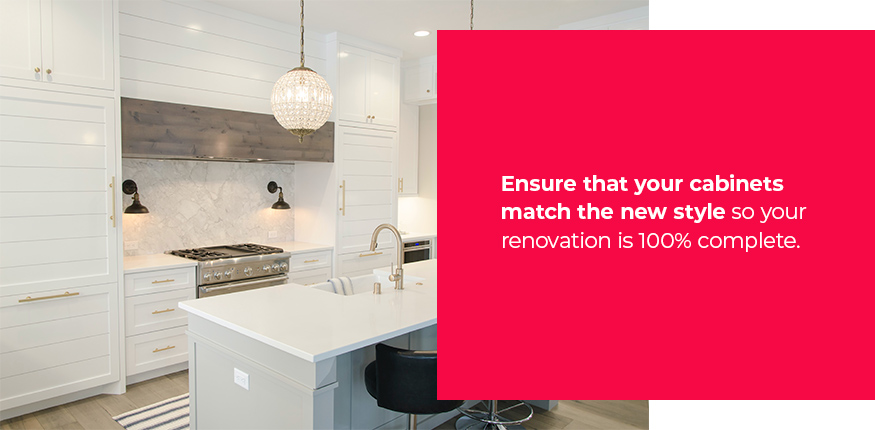Ensure that your cabinets match the new style