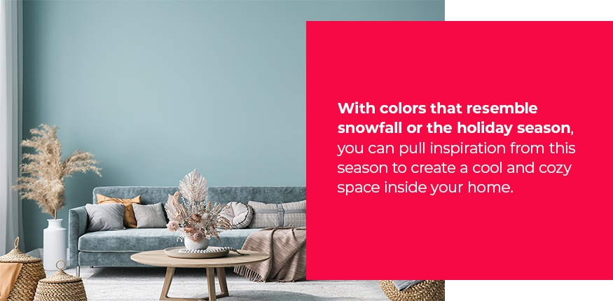 Winter inspired paint colors